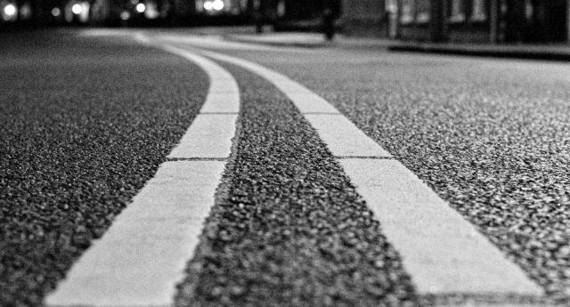 Close-up of a road.