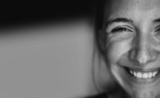 Female smiling.